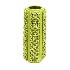 Benzara Ceramic Vase With Glossy Finish In Light Green Color