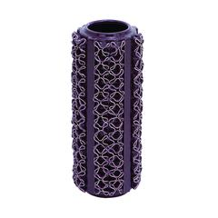 Benzara Vase In Beautiful Purple Color And Glossy Finish
