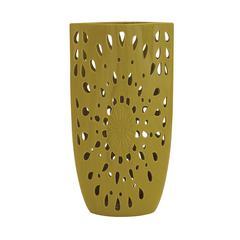Benzara The Cool Ceramic Yellow Vase