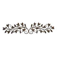 Metal Wall Decor With Round Scroll Frame