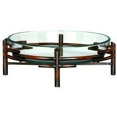 Benzara Glass Bowl Metal Stand Beautifully Sculptured