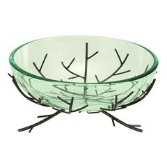 Glass Bowl Metal Stand Ultimate Modern Furniture Blend
