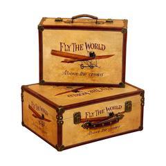Wood Box S/2 Fabulous Decor Cum Storage