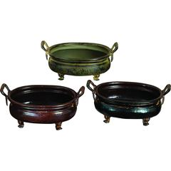 Benzara Metal Planter Set Of 3 Assorted Rare To Find Elsewhere