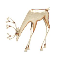 Benzara Appealing Metal Deer Decor