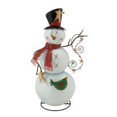 Benzara Adorable Stylish Metal Snowman