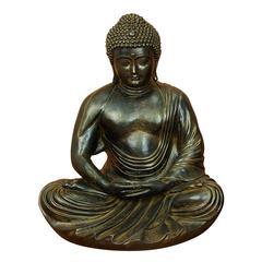 Benzara Gray – Brown Polystone Buddha 24 Inches High