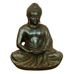 28 Inches Wide Polystone Buddha Gray – Brown