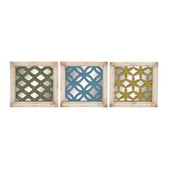 Wonderful Styled Wood Wall Plaque 3 Assorted