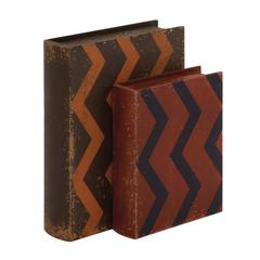 Creative Styled Fancy Wood Leather Book Box