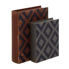 Benzara Fascinating Styled Classy Wood Leather Book Box