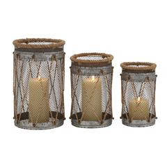 Benzara Attractive Styled Metal Candle Holder