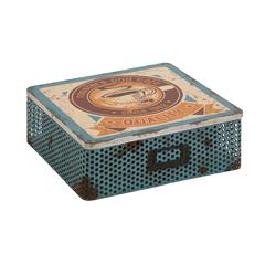 Benzara The Rustic Metal Wood Box