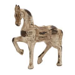 Benzara Antique Styled Polystone Horse