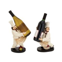 Benzara The Delightful Chef Wine Holder 2 Assorted