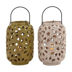 Benzara The Stunning Ceramic Lantern 2 Assorted