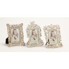 Benzara Alluring Polystone Photo Frame 3 Assorted