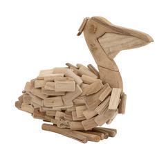 Mesmerizing Driftwood Pelican
