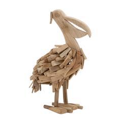 Benzara Enthralling Driftwood Pelican