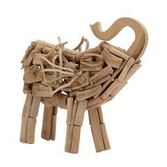Benzara Trendily Designed Driftwood Elephant