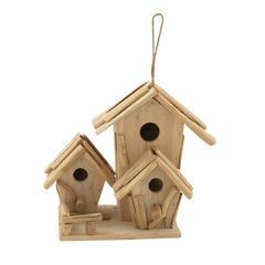 Benzara Striking And Stylish Driftwood Birdhouse