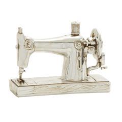 Benzara Wonderful Silver Sewing Machine Décor