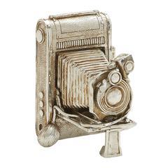Antique Themed Silver Camera Décor