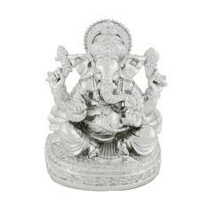 Benzara Serene And Divine Silver Ganesh Figurine