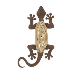 Exclusive Metal Wood Wall Lizard