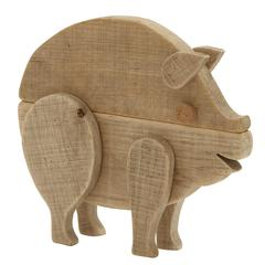 "Alluring Wood Pig 13""W, 12""H"