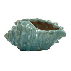 Benzara Distinctive Ceramic Seashell Planter