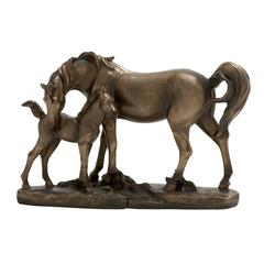 Adorable Double Horses Figurine