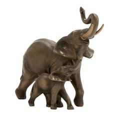 Attractive & Unique Double Elephants Figurine