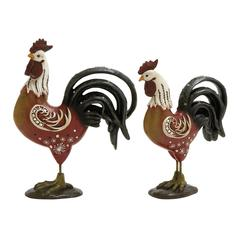 Benzara Awestruck Multicolored Rooster Set Of 2