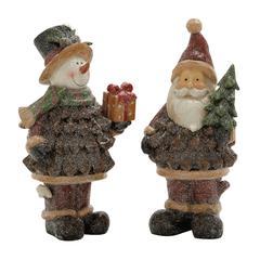 Wonderfully Crafted 2 Assorted Santa Snowman