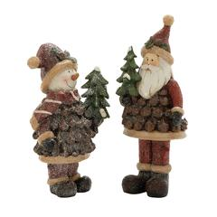 Brilliantly Crafted 2 Assorted Santa Snowman