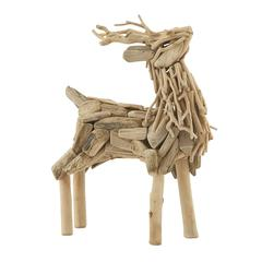 Benzara Creatively Styled Driftwood Deer