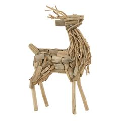 Benzara Impressive Driftwood Deer
