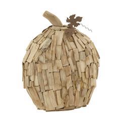 "Benzara Artistic Wood Metal Pumpkin 13""W, 15""H"