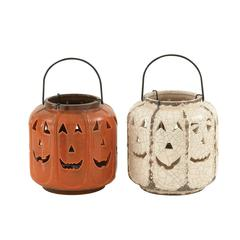 Cool Ceramic Fall Lantern 2 Assorted