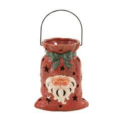 Beautiful Ceramic Metal Santa Lantern