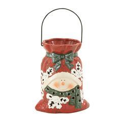 Benzara Fun Ceramic Snowman Lantern