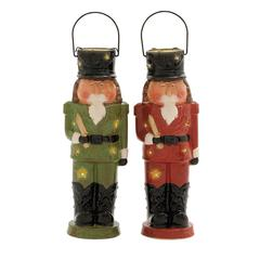 Benzara Priceless Ceramic Nutcracker Lantern 2 Assorted