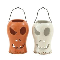 Benzara Captivating 2 Assorted Ceramic Halloween Lantern