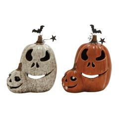 Benzara Perfect Ceramic Pumpkin 2 Assorted