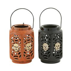 Benzara Spellbinding 2 Assorted Ceramic Halloween Lantern