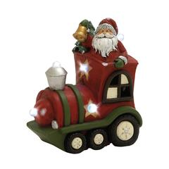 Adorable Led Santa With Train Décor