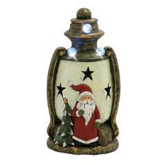 Benzara Classic Santa Led Lantern