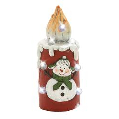 Benzara Lovable Led Snowman Candle