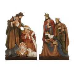 Benzara Set Of 2 Majestic Holy Family Statue